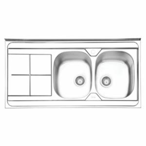 سینک ظرفشویی ایلیا استیل مدل ۱۰۴۱ روکار