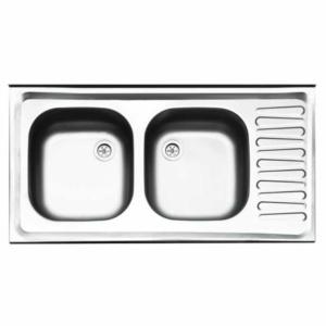 سینک ظرفشویی ایلیا استیل مدل ۲۲۱ روکار کلاسیک