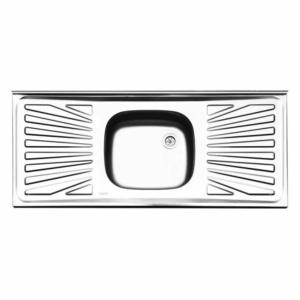 سینک ظرفشویی ایلیا استیل مدل ۳۳۱ روکار کلاسیک