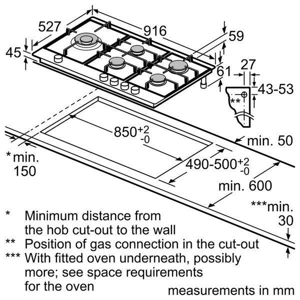 اجاق گاز صفحه ای بوش سری 8 مدل PRS9A6D70