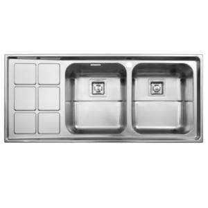سینک ظرفشویی استیل البرز مدل 761 توکار
