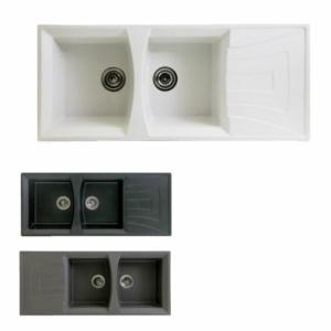 سینک ظرفشویی گرانیتی بیمکث مدل 003 BG توکار