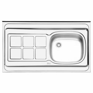 سینک ظرفشویی ایلیا استیل مدل 131 روکار کلاسیک
