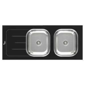 سنک ظرفشویی شیشه ای سیمر مدل SG-120 B