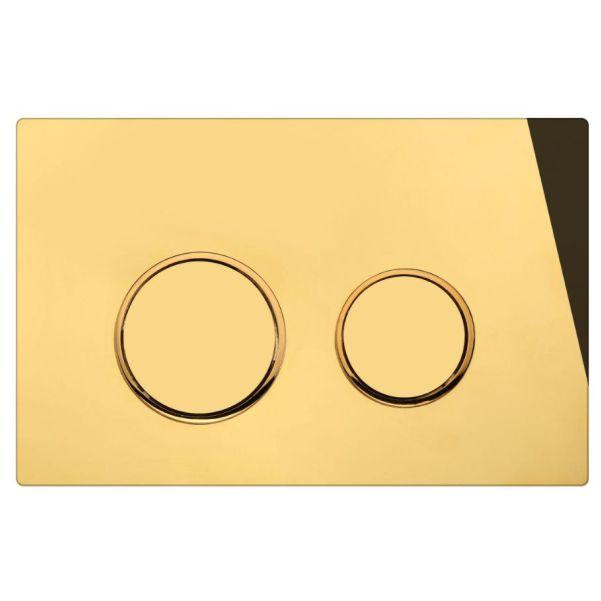 دکمه گرد طلایی