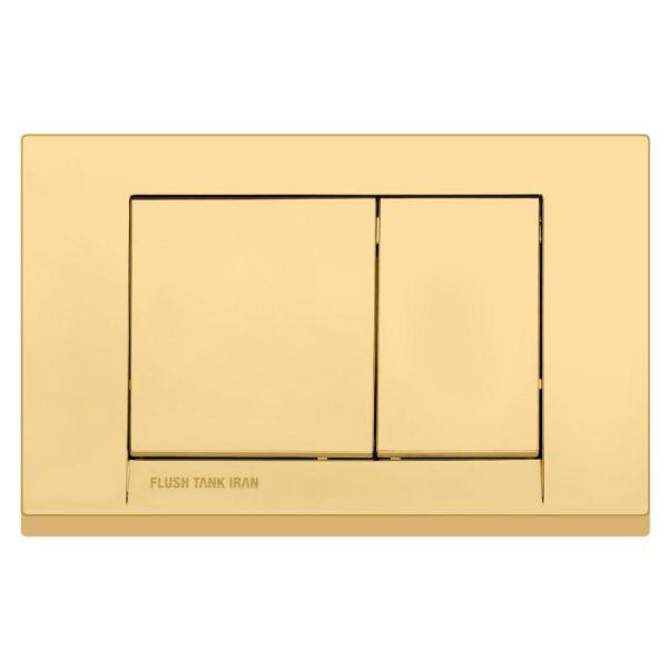 دکمه 4گوش طلایی مات