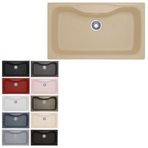 سینک ظرفشویی مکاپا مدل Lenox 90