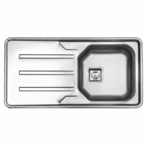 سینک ظرفشویی استیل البرز مدل 180 توکار