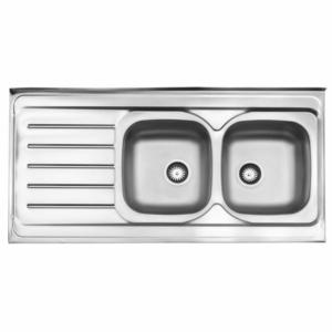 سینک ظرفشویی استیل البرز مدل 216 روکار