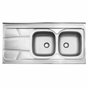 سینک ظرفشویی استیل البرز مدل 217 روکار