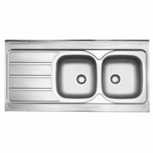 سینک ظرفشویی استیل البرز مدل 218 روکار
