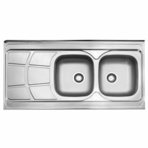 سینک ظرفشویی استیل البرز مدل 219 روکار